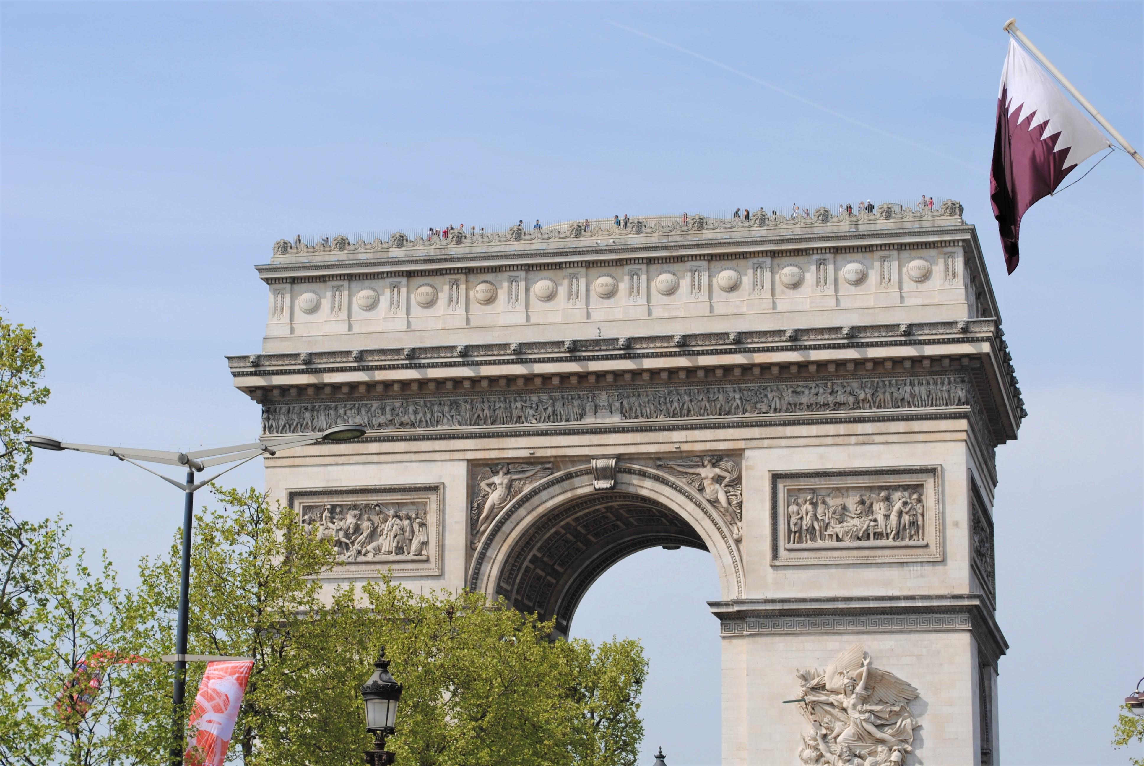 Travel Paris with a Baby Arc de Triomphe