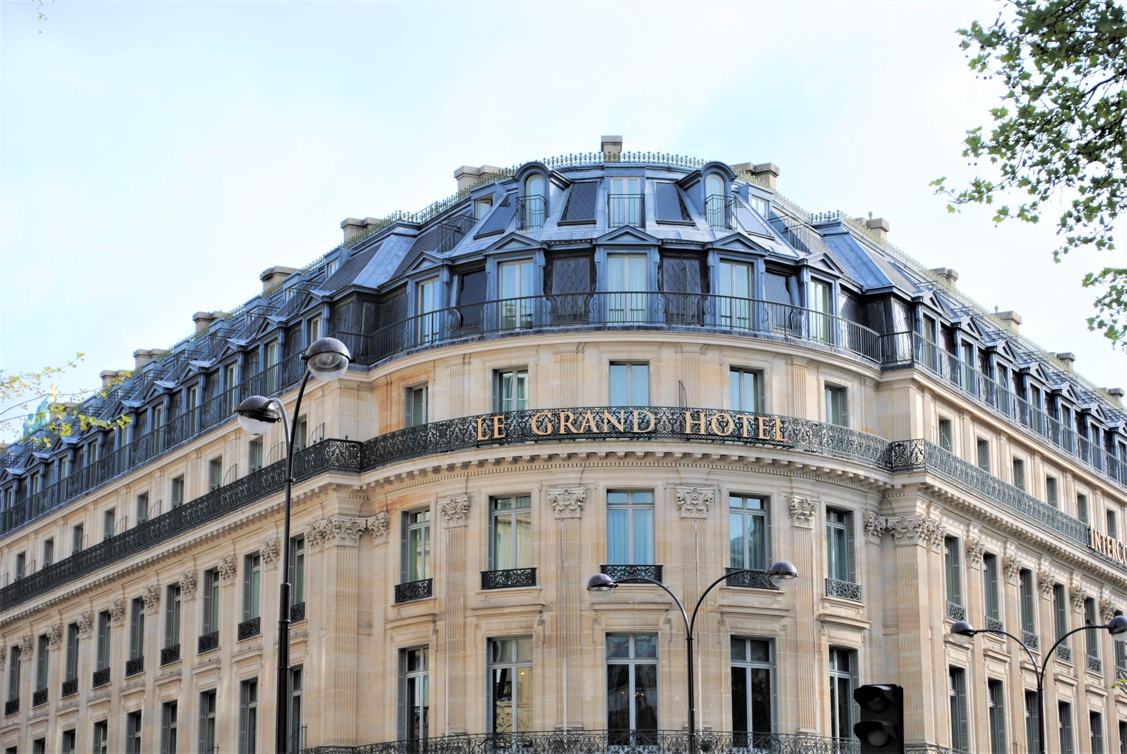 Travel Paris with a baby Paris Le Grand Hotel