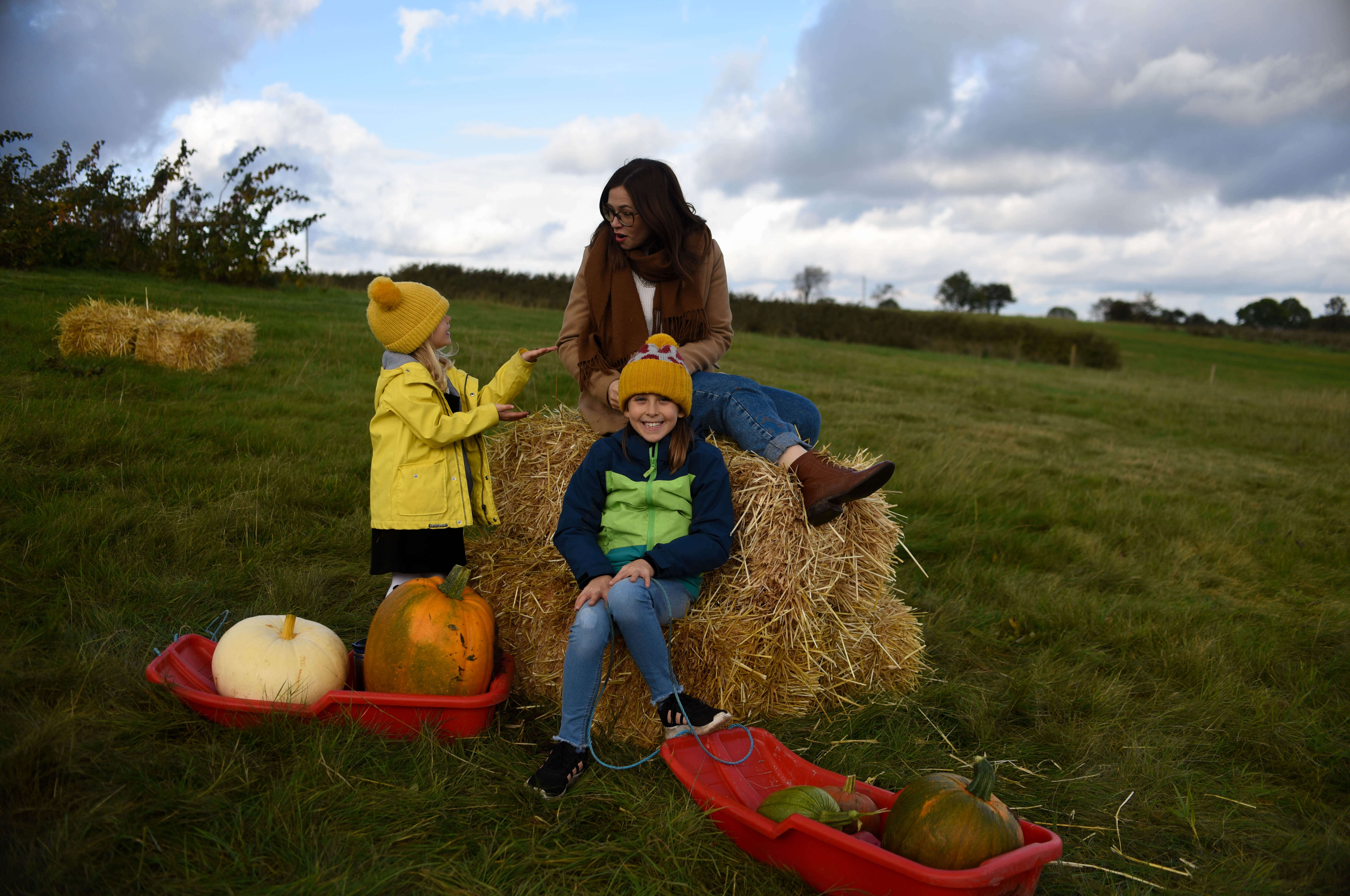 pumpkin patch picking shadows farm Derbyshire