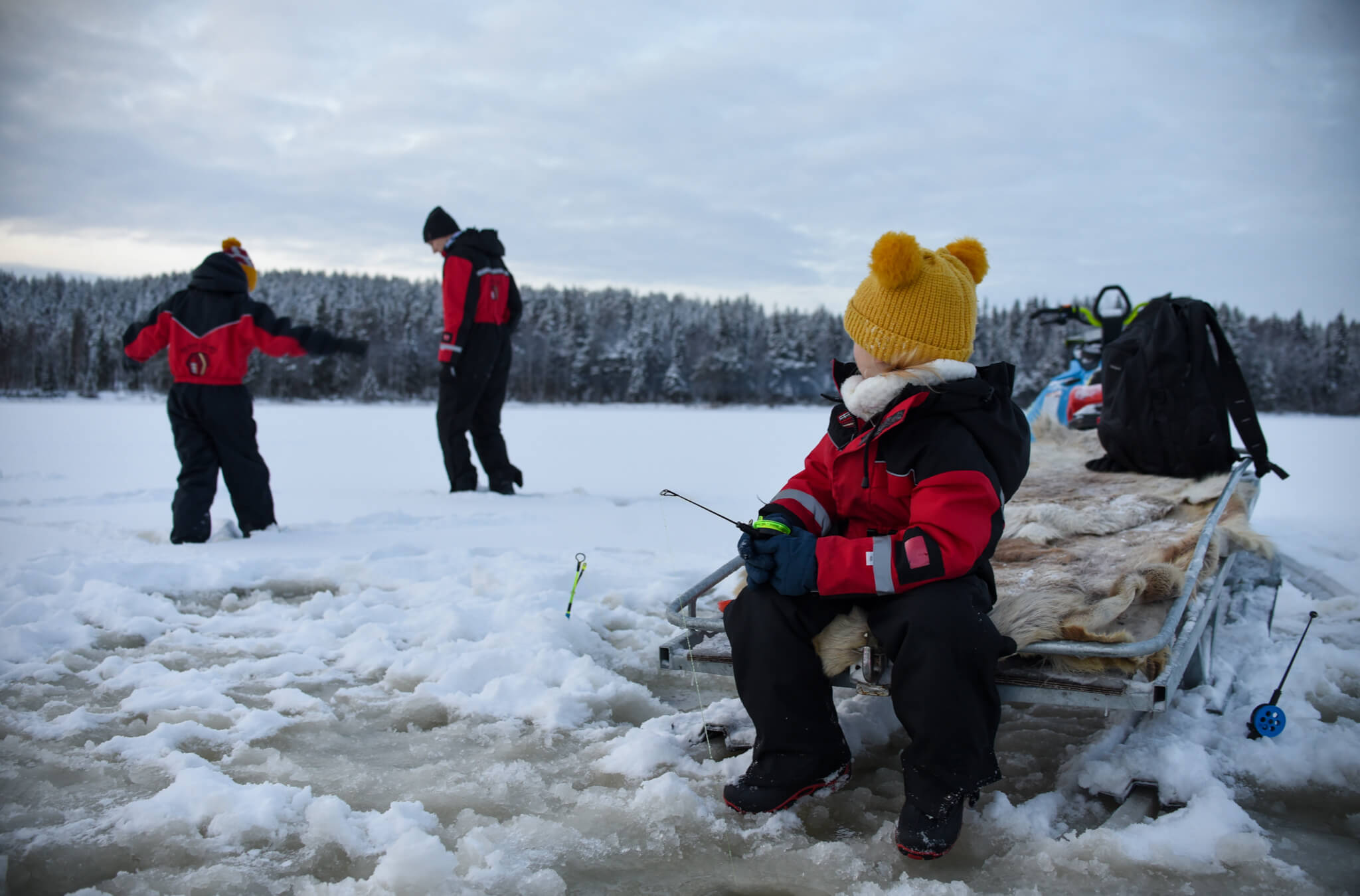 Lapland Excursion ice fishing