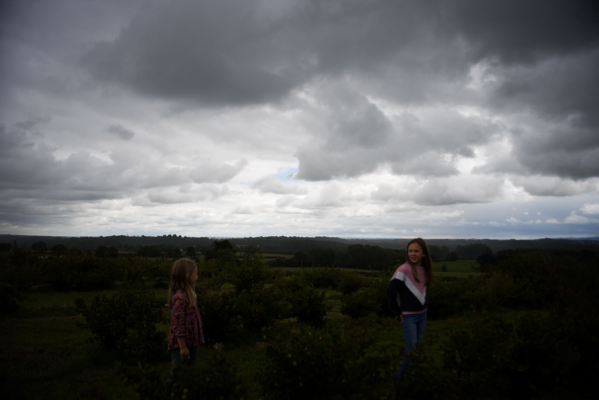 Moody cloud filled skies